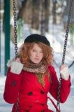 Senhora no vermelho Fotografia de Stock Royalty Free