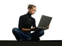 Senhora nova com caderno Imagem de Stock
