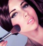 Senhora nova com cara perfeita Imagens de Stock Royalty Free