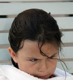 Senhora nova irritada Fotografia de Stock