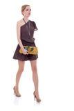 Senhora nova no passeio do vestido Imagens de Stock