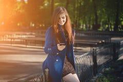 Senhora para uma caminhada Imagens de Stock Royalty Free