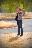 Senhora Photographer Fotografia de Stock Royalty Free