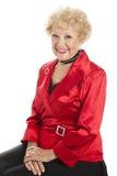 Senhora Pingamento sênior por feriados Fotografia de Stock Royalty Free