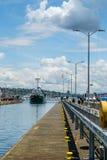 Senhora polar do barco de pesca que inscreve Ballard Locks Fotografia de Stock