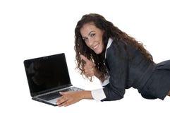 Senhora que mostra a aprovaçã0 fotos de stock royalty free