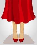 Senhora In Red Foto de Stock