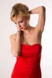 Senhora In Red Fotografia de Stock