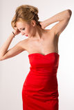 Senhora In Red Fotografia de Stock Royalty Free