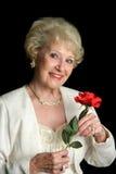 Senhora sênior bem sucedida elegante fotos de stock royalty free