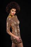 Senhora 'sexy' lustrosa Imagens de Stock Royalty Free