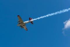 Senhora With Smoke Trail do ianque aéreo Fotos de Stock Royalty Free