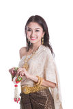Senhora tailandesa no original Tailândia do vintage Fotos de Stock