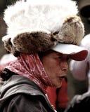 Senhora tibetana em Jiuzhaigou Imagens de Stock