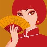 Senhora vermelha ilustração stock