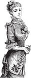 Senhora vitoriano elegante ilustração do vetor