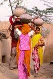 Senhoras aciganadas, Jaisalmer, Índia Fotografia de Stock