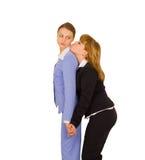 Senhoras do negócio envolvidas romantically Imagens de Stock