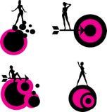 Senhoras e formas ilustração do vetor