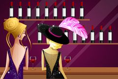 Senhoras no partido ilustração stock