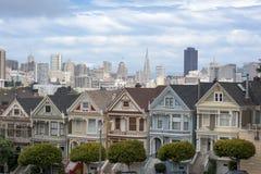 Senhoras pintadas em San Francisco Fotografia de Stock Royalty Free