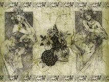 Senhoras retros do estilo ilustração do vetor