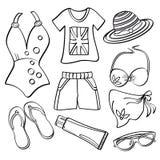 Senhoras roupa e acessórios Fotografia de Stock Royalty Free
