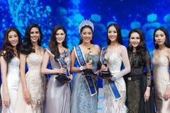 Senhorita All Nations Thailand 2017, círculo final Fotos de Stock Royalty Free