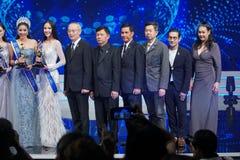 Senhorita All Nations Thailand 2017, círculo final Imagem de Stock Royalty Free