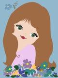 Senhorita Amorous ilustração stock