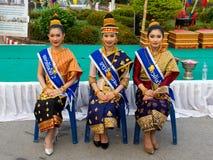 Senhorita Lao New Year 2014 Imagens de Stock Royalty Free