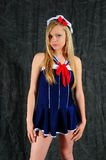 Senhorita pequena Marinheiro Foto de Stock Royalty Free