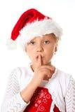A senhorita Santa diz seja quieta Fotografia de Stock Royalty Free