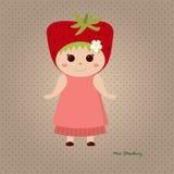Senhorita Strawberry Foto de Stock Royalty Free