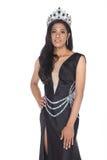 Senhorita Transgender Pageant Contest na bola longa do vestido de bola da noite imagem de stock