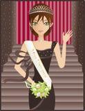 Senhorita Universo ilustração royalty free