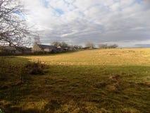 Senic-Landansicht, Northumberland, nr Crookham, England Großbritannien Lizenzfreies Stockbild