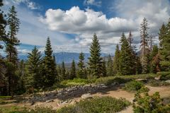 Viewpoint in Sequoia National Park over Kings Canyon CA stock photography