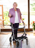 Senieor with walking frame Stock Photo