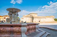 Senigallia的纪念碑 库存图片