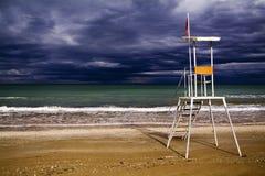 Senigallia, Ιταλία, σταθμός διάσωσης για τα lifeguards στοκ φωτογραφία με δικαίωμα ελεύθερης χρήσης