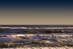 Senigallia, Ιταλία, τα κύματα της αδριατικής θάλασσας στοκ φωτογραφία