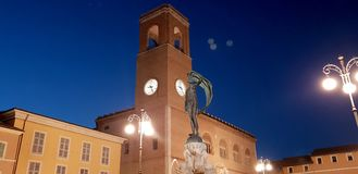 Senigallia clock tower. The clock tower sited in the Senigallia`s historical center in central Italy royalty free stock photos