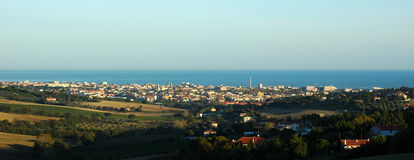 Senigallia (ITALY) - Panorama between hills and sea. Senigallia (ITALY) - Town between hills and sea Royalty Free Stock Image