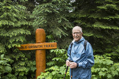 Senior active man hiking Royalty Free Stock Photo