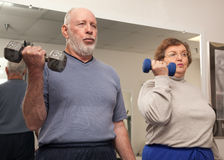 Senior Adult Couple Working Out stock photo
