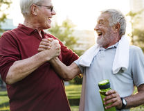 Senior Adult Exercise Fitness Strength Royalty Free Stock Image