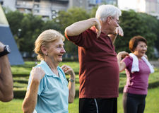 Senior Adult Exercise Fitness Strength Royalty Free Stock Photos
