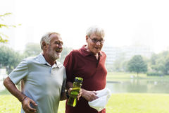 Senior Adult Exercise Fitness Strength. Concept Royalty Free Stock Images