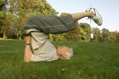 A senior adult exercising. Stock Photography